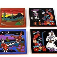 Masterworks Handcrafted Art Tiles - Safe for Hot Dishes or Wall Art in 7 Designs