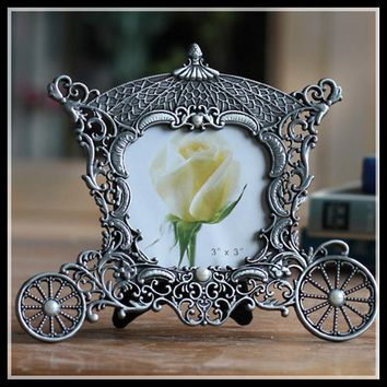 Metal vintage picture frames classic picture photo frame small Europe mini photo frames home decor