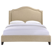 Charlotte Queen Bed Frame in Beige