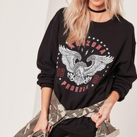 Missguided - Arizona Phoenix Sweatshirt Black