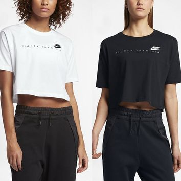 "The Nike Sportswear ""Higher Than Air"" Cropped Women's Short Sleeve Top"
