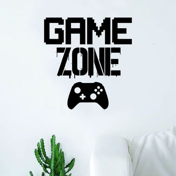Game Zone Wall Decal Quote Home Room Decor Decoration Art Vinyl Sticker Funny Gamer Gaming Nerd Geek Teen Video Kids