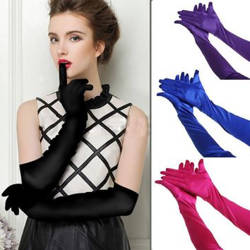 Fashion Satin Long Evening Gloves