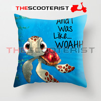 "Squirt from Finding Nemo - Pillow Cover 18"" x 18"" - One Side"