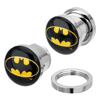 Batman Logo Steel Plugs