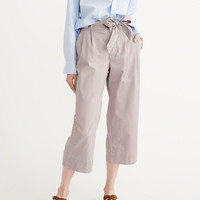 Womens Cropped Wide-Leg Pants | Womens New Arrivals | Abercrombie.com