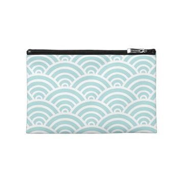 Tiffany Blue Scallop Pattern Travel Accessories Bags
