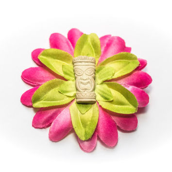 Sunny Tiki Rockabilly Hair flower alligator hair clip