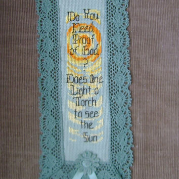 Do you need Proof of God? Christian/Inspirational Counted Cross-Stitch Bookmark