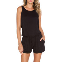 Raegen Romper in Black
