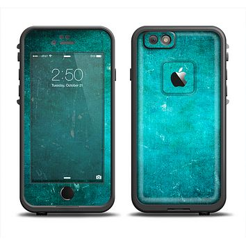 The Grunge Green Textured Surface Apple iPhone 6 LifeProof Fre Case Skin Set