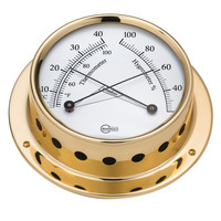 "BARIGO Tempo Series Ship's Comfortmeter - Brass Housing - 3.3"" Dial"