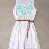 Song Bird Dress in White [7254] - $42.00 : Feminine, Bohemian, & Vintage Inspired Clothing at Affordable Prices, deloom