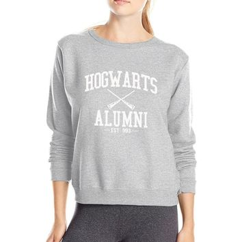 Hot Sale Inspired Magic Hogwarts Alumni printed women sweatshirt 2016 autumn winter casual slim fit hoodies S-2XL available