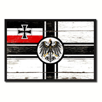Imperial German Navy 1867-1871 War Military Flag Vintage Canvas Print with Picture Frame Home Decor Man Cave Wall Art Collectible Decoration Artwork Gifts
