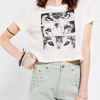Urban Outfitters - Truly Madly Deeply Eyes Cropped Boyfriend Tee