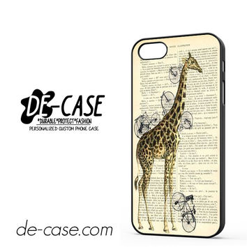 Giraffe Vintage Book For Iphone 5 Iphone 5S Case Phone Case Gift Present YO