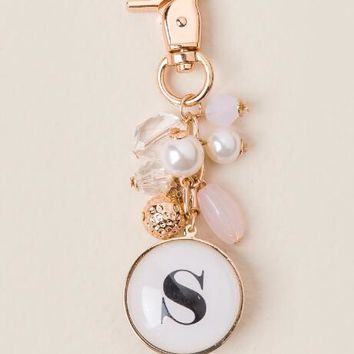 """S"" Initial Bubble Keychain"