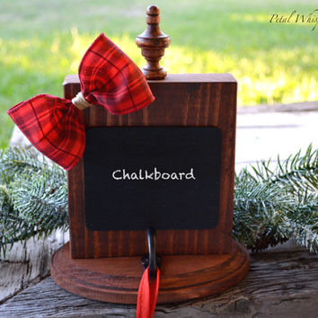 Stocking Holder ~ Christmas Stocking Hanger ~ Wood Chalkboard Stocking Holder ~ Gifts Under 25 ~ Rustic Christmas  ~ Wooden Stocking Holder