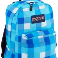 JanSport Classic SuperBreak Backpack, Mammoth Blue Block Check