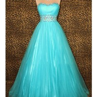 WowDresses — Fabulous Ball Gown Sweetheart Floor Length Tulle Prom Dress