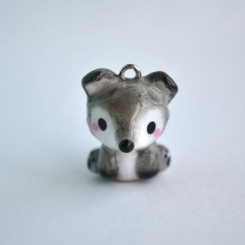 Image of: Pokemon Grey Wolf Animal Charm Kawaii Polymer Clay Wanelo Shop Animal Charms Polymer Clay On Wanelo