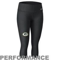 Nike Green Bay Packers Ladies Performance Capri Pants - Black