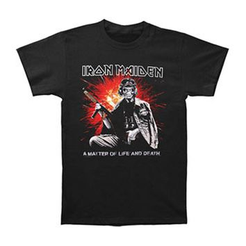 Iron Maiden Men's  T-shirt Black Rockabilia