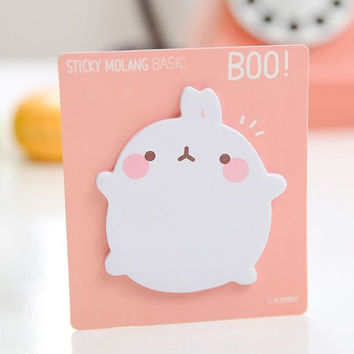 Sticky Notes Memo Pad Labels | Bookmark Stationary Paper | School Office Supplies | Removable Adhesive Fat Rabbit Cute Korean Post-It M30