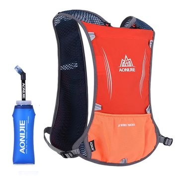 AONIJIE Women Men Running Backpack Outdoor Sports Trail Racing Marathon Hiking Fitness Bag Hydration Vest Pack 600ml Kettle