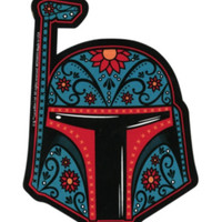 Star Wars Boba Fett Sugar Skull Sticker