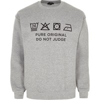 Grey marl Ditch the Label charity sweatshirt