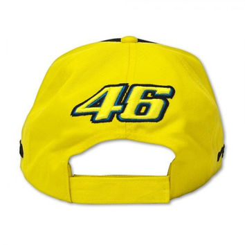 Racing Moto GP Valentino Rossi VR/46 Forty Six Helmet Sun and Moon Baseball Hat Peaked Cap Yellow Black