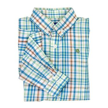 J. Bailey by The Bailey Boys - Reef Turquoise Plaid Button Down Shirt