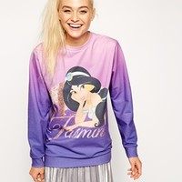 ASOS Sweatshirt with Princess Jasmine Ombre Print