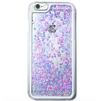 GLITTER HEART HOLOGRAM IPHONE CASE