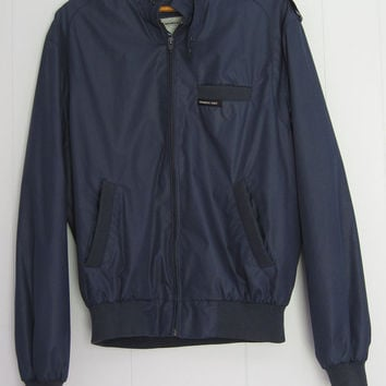 Vintage Members Only Jacket Mens Navy Blue Jacket Coat Cafe Racer 42