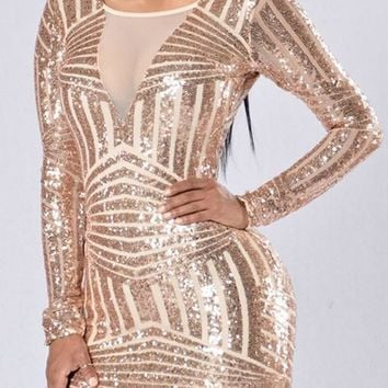 Streetstyle  Casual Golden Patchwork Sequin Backless Fashion Bodycon Homecoming Mini Dress