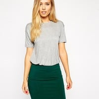 ASOS Bodycon Dress With Contrast Skirt And Drape Top