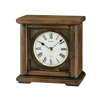 Seiko Wooden Desk or Table Clock  - 12 Melodies - Decorative Wooden Case