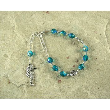 Manannan mac Lir Prayer Bead Bracelet: Irish Celtic God of the Sea