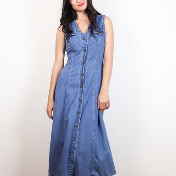 Shop Vintage Denim Shirt Dress on Wanelo