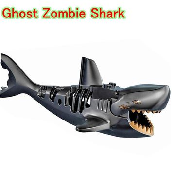 Ghost Zombie Shark Action Bricks Single Sale Pirates of the Caribbean Building Bricks Toys Legoingly For Children PG1008