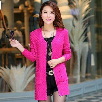 Women Sweater Long Cardigan