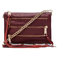 Rebecca Minkoff Mini 5 Zip in Burgundy