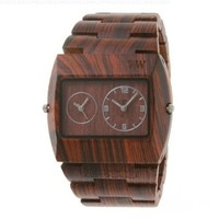 Wewood Men's Limited Edition Jupiter Brown Dual Movement Wooden Watch
