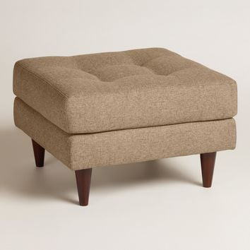 Chunky Woven Ryker Upholstered Ottoman