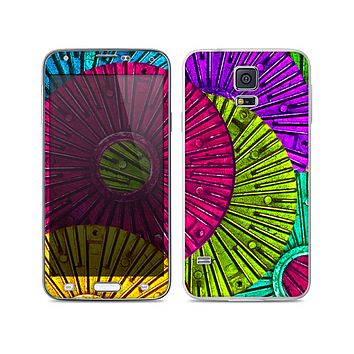 The Colorful Segmented Wheels Skin For the Samsung Galaxy S5