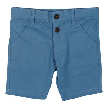 Kipp Boys' Blue Linen Shorts