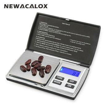 LMFLD1 NEWACALOX 500g x 0.01g Digital Precision Scales for Gold Jewelry Scale 0.01 Pocket Balance Electronic Stainless Steel Scales